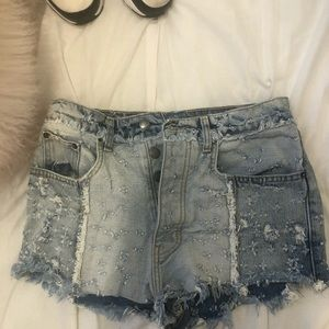 Carmar denim jean shorts